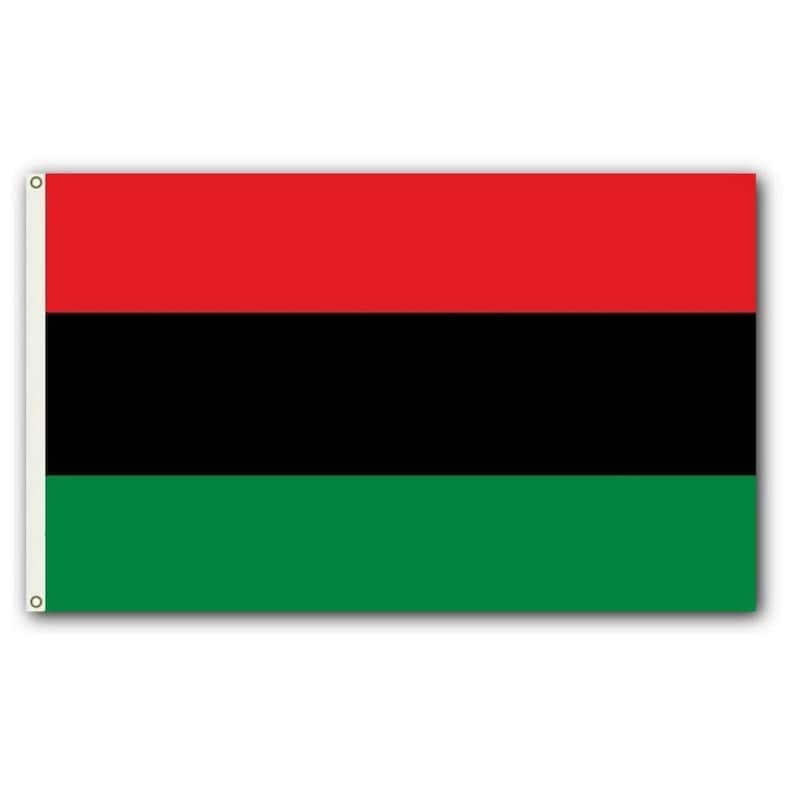 Red Black Green African American Flag Large High Quality Free image 0