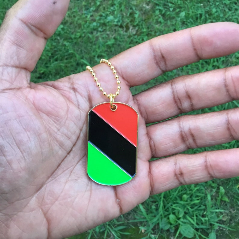 Dogtag  Red Black Green  African American Flag  The image 0