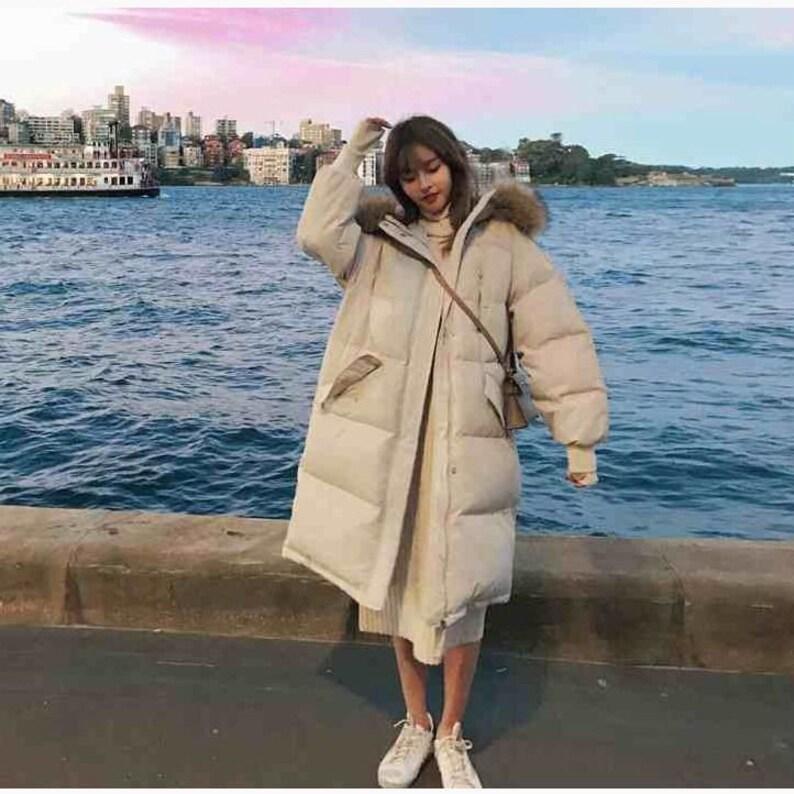 Winter Coat Long Hooded Parka Coat Big Fur Collar Parka Jacket Warm Coat
