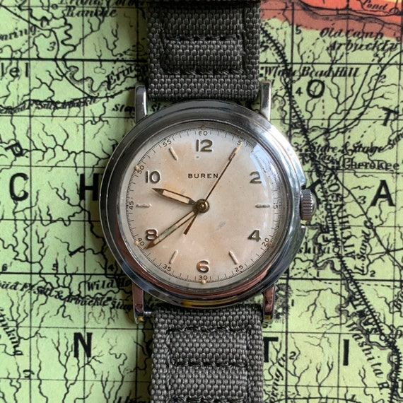 Vintage 1940s Buren Watch