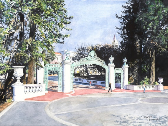 University of California Berkeley Historic Sather Gate