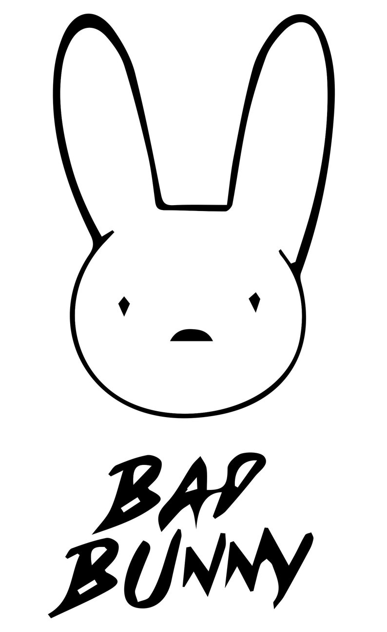 Bad Bunny Logo SVG and JPEG Cutting Files for the Cricut ...