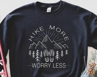 Glamping Shirt Happy Camper Shirt Hike More Worry Less Shirt Nature Hike Shirt Hiking Shirt Women Camping Shirt Adventure Shirt