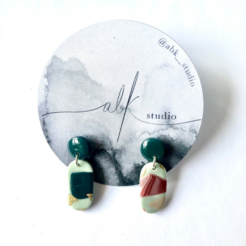 Spring Forward collection polymer clay earrings