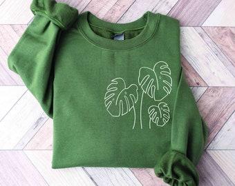 Monstera Plant Mom Plant Lady Sweatshirt Plant Mama Crewneck Plant Mama Gift
