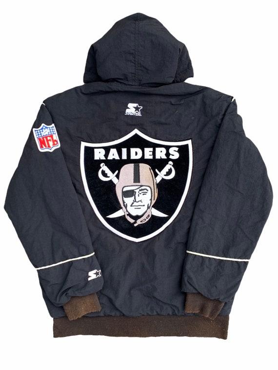 Vintage Raiders NFL Starter Embroidered Hoodie Bom