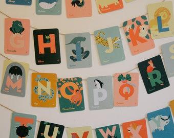 Alphabet postcards - Animals to display - Alphabet poster