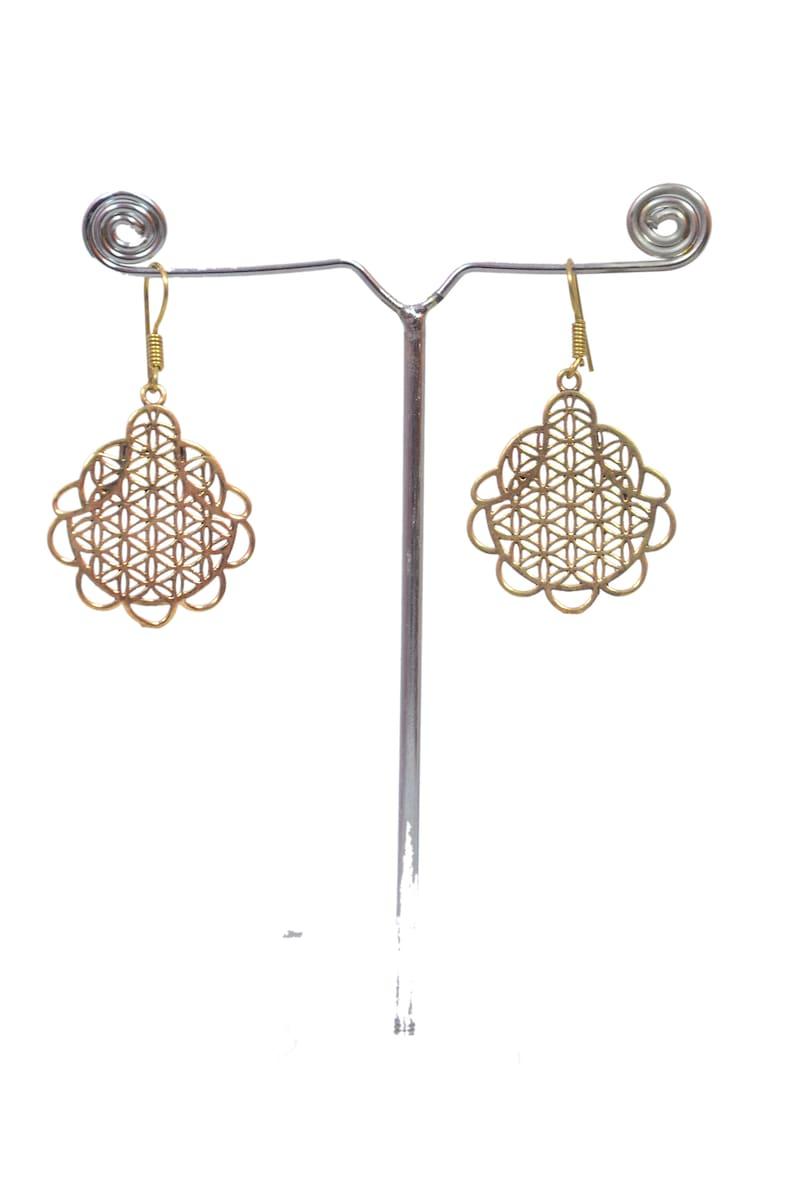 Ethnic Earrings Solid Brass Earrings Tribal Earrings Gift For Her Christmas Gift
