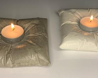 Concrete Pillow Tea Light Holder   T Light Holder Cushion   Candle Holder  