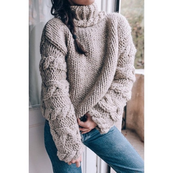 J. Crew Fisherman Cable Chunky Knit Cowl Sweater