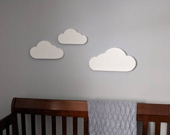 Cloud Wall Hangings, Set of 3 Wooden Clouds, Nursery Wall Hanging, Cloud Nursery, Sweet Dreams Nursery Clouds, Nursery Decoration