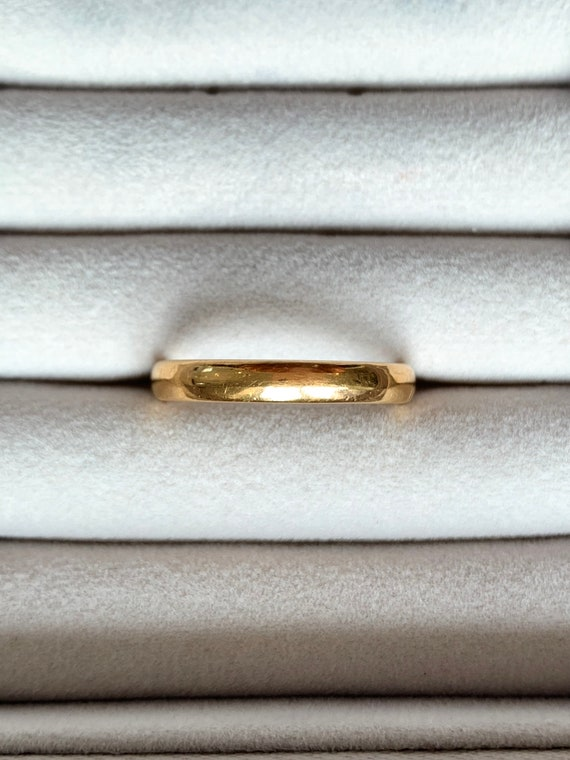 22ct gold ring perfect wedding band, stacker ring,