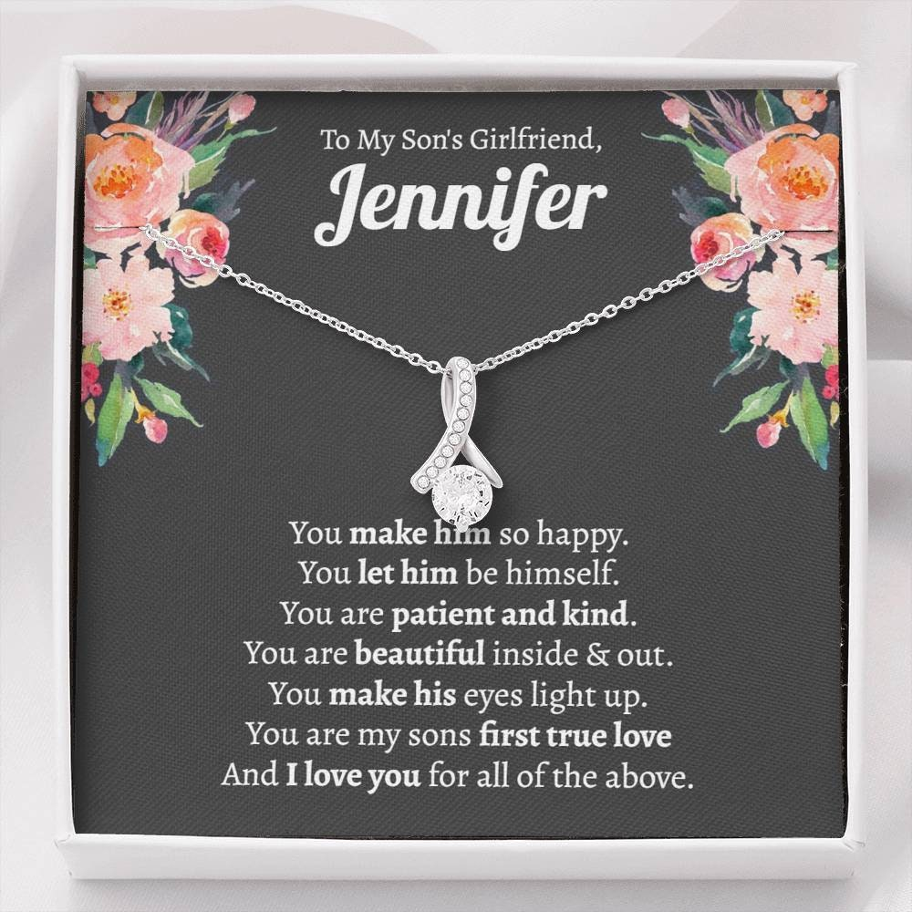 Son/'s Girlfriends Birthday Gift Dainty Heart Necklace Christmas Gift For Sons Girlfriend Sons Girlfriend Gift Gift For Son/'s Girlfriend