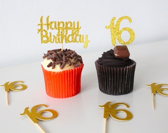 Rice wafer or Icing Sheet.815 50th Birthday Personalised x20 Cupcake toppers