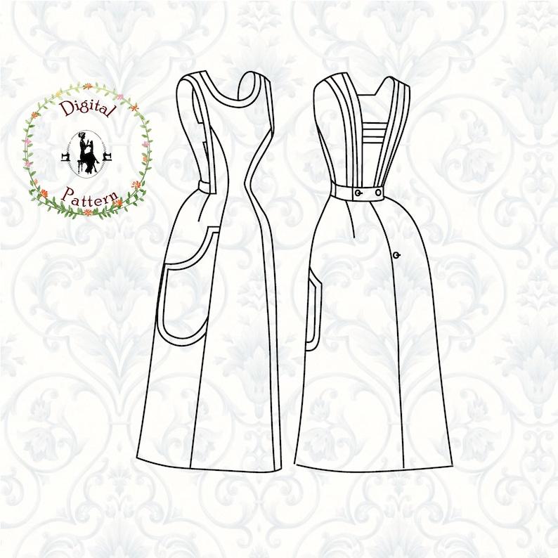 Victorian Edwardian Apron, Maid Costume & Patterns 1880s-1890s Victorian/Edwardian Apron Sewing Pattern | Victorian Apron for Full Skirt | PDF Vintage Historical Sewing Pattern $12.78 AT vintagedancer.com