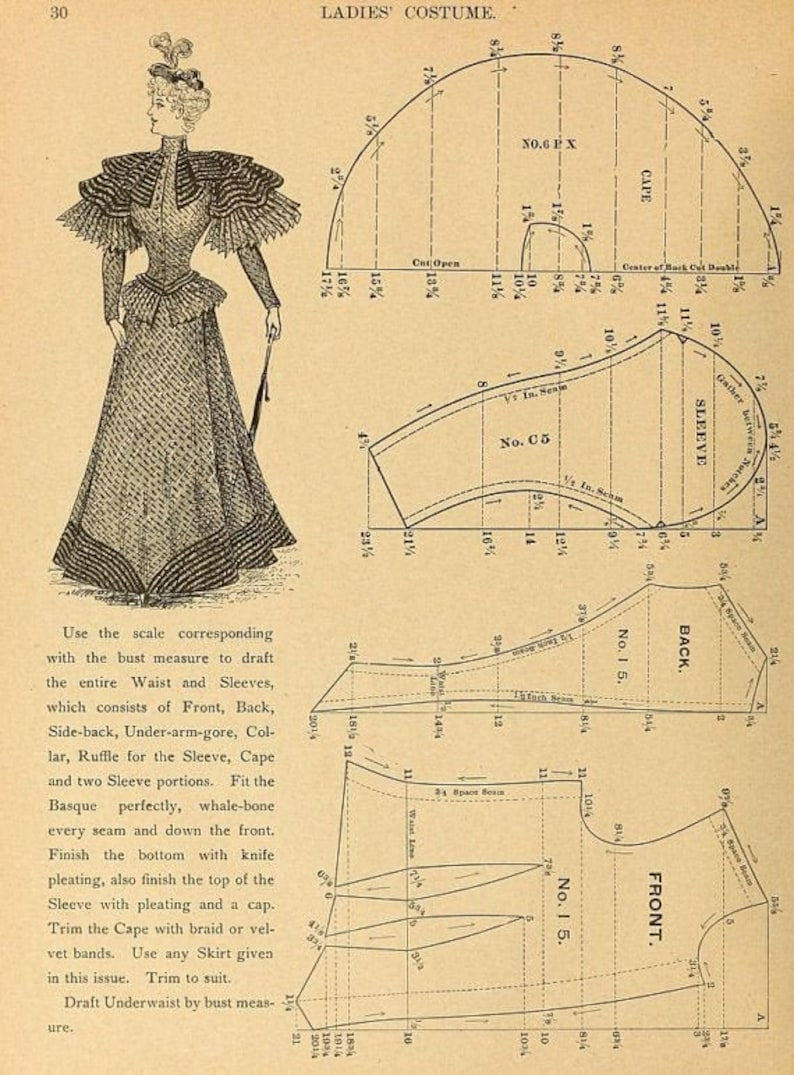 Steampunk Sewing Patterns- Dresses, Coats, Plus Sizes, Men's Patterns Custom Victorian Pretty Housemaid sewing pattern $24.39 AT vintagedancer.com