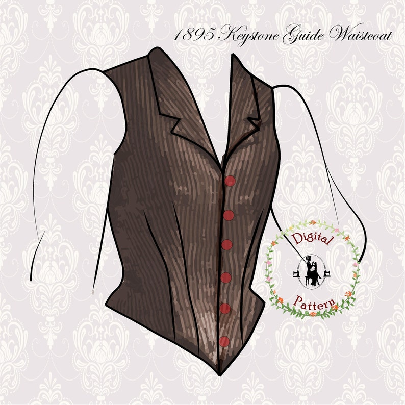 Victorian Blouses, Tops, Shirts, Vests, Sweaters     1890s Single Breasted Waistcoat Sewing Pattern | Keystone Guide to Jacket and Dresscutting | PDF Digital Vintage Sewing Pattern $16.69 AT vintagedancer.com