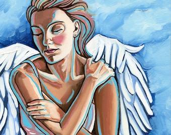 Pensive Angel canvas print