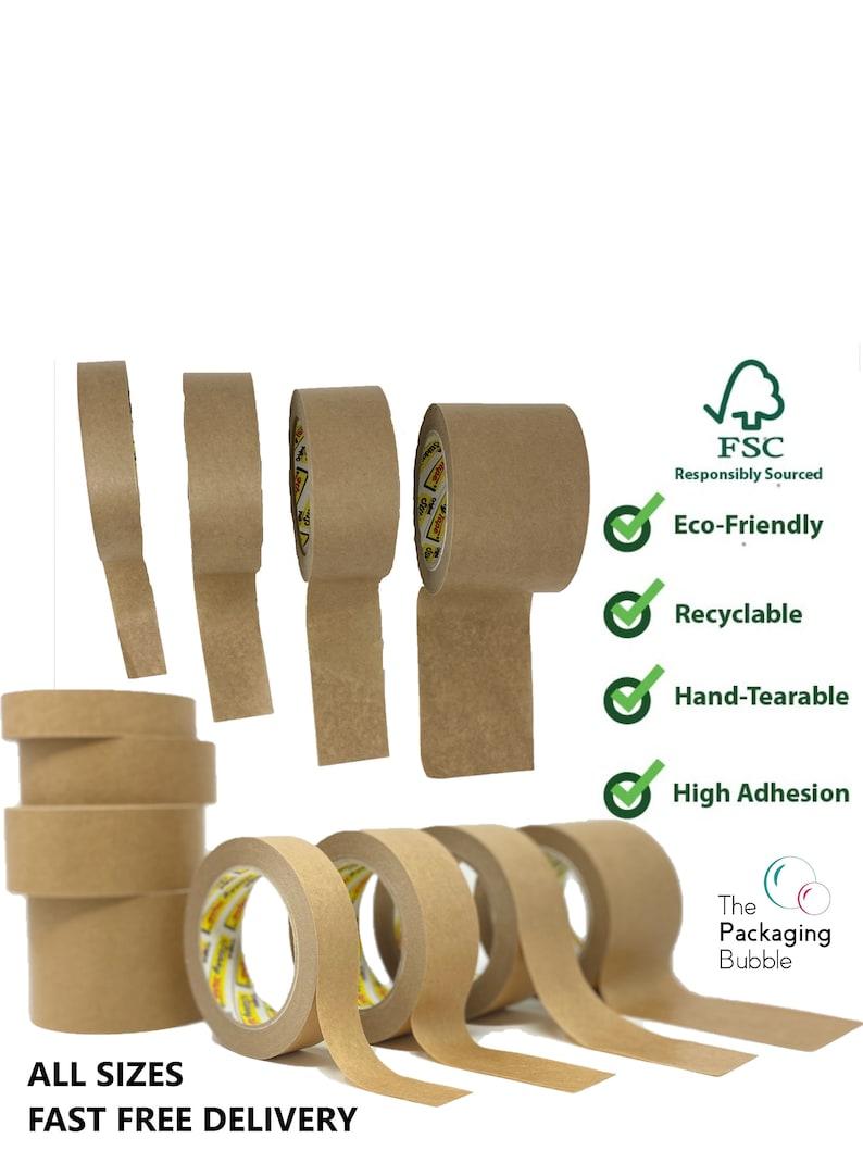 Brown Kraft Paper Packaging Parcel Tape Eco Friendly image 1