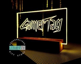 Gamer Tag Sign, Gamertag Light, Streamer Gift, Gaming Decor, Gaming Tag, Custom Gaming Sign, Custom Light Up Sign, Neon Sign, Pc LED Light