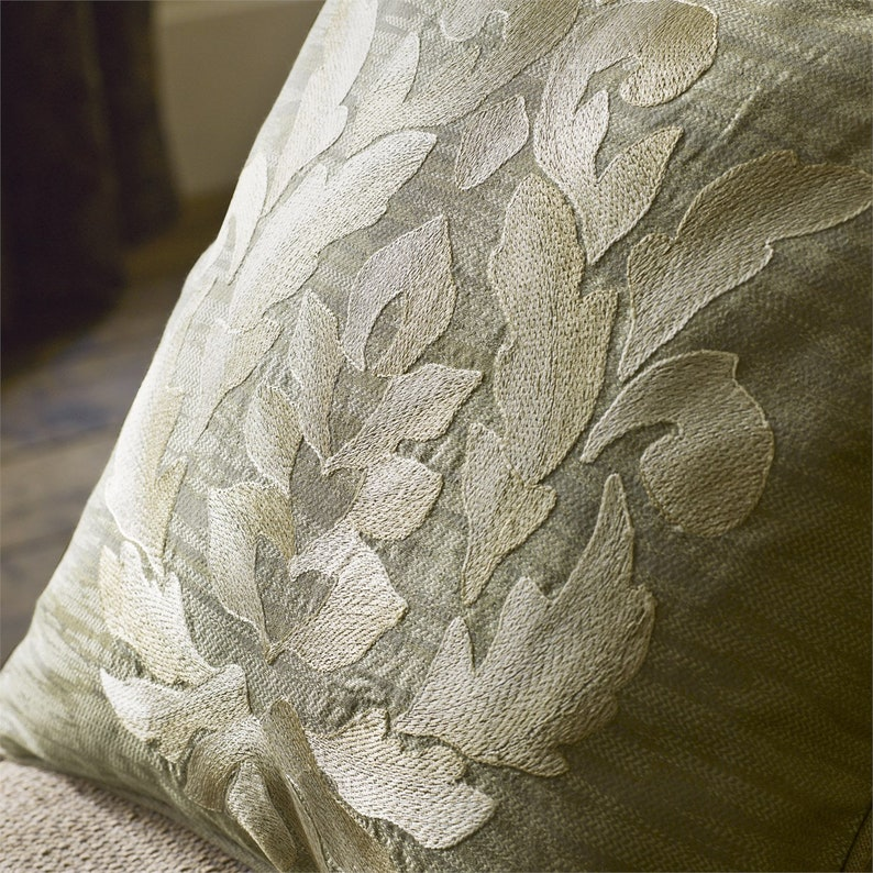 Zoffany damask embroidery on linen English Eastern Persian style curtains drapes by the meter  yard Embroidered damask curtain fabric