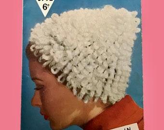 Bestway 3792 ~ Vintage Knitting Pattern for Ladies Hat ~ DK & Chunky
