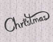 Christmas Hand Drawn Text with Swirl SVG Cutting File for Cricut Silhouette Crafting