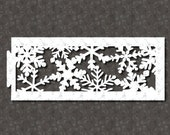 Snowflakes Winter Tea Light Lantern Ornament SVG Cricut Cutting Machine File for Crafters