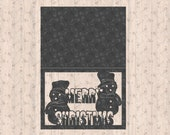 Merry Christmas Winter Snowman Card SVG cutting file for Cutting Crafters
