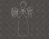 Lovely Male Christmas Angel SVG File Cricut Silhouette for Crafters