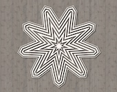 Layered Star SVG Cut File, Layered Star, Layered Star SVG for Cricut