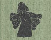 Lovely Christmas Heart Angel SVG File Cricut Silhouette for Crafters