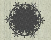 Christmas Winter Snowflake Coaster SVG Cricut Cutting Machine File for Crafters