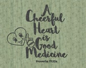 A Cheerful Heart is Good Medicine SVG Cut File, Bible Quote Digital Download, Bible Quote Cuttable