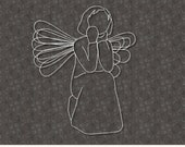 Sitting Christmas Angel SVG File Cricut Silhouette for Crafters