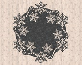 Christmas Winter Candy Cane Snowflake Coaster SVG Cricut Cutting Machine File for Crafters