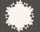Christmas Winter Angels and Stars Coaster SVG Cricut Cutting Machine File for Crafters