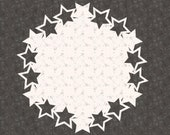 Christmas Winter Stars Coaster SVG Cricut Cutting Machine File for Crafters