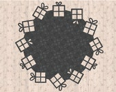 Christmas Winter Presents Coaster SVG Cricut Cutting Machine File for Crafters