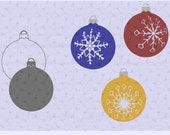 Snowflake Christmas Balls SVG Cut Files for Cricut or Silhouette to decorate your favorite home decor or textiles