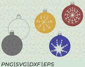 SVG Cut Files Snowflake Christmas Balls for Cricut or Silhouette to decorate your favorite home decor or textiles