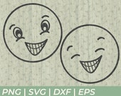 Grinning Smiling Face SVG Cut Files for Cricut and Silhouette to Make Home Decor or T-Shirts
