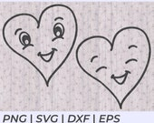 Hand Drawn Smiling Heart SVG Cut Files for Cricut and Silhouette to Make a Card