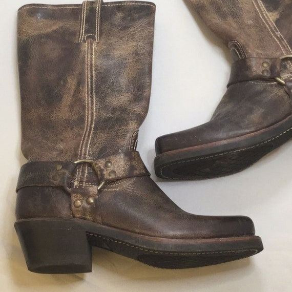Frye Harness Boots Brown 6.5M 12R EXC condition