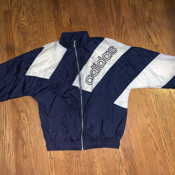 Men's Vintage Adidas 90s Lined Windbreaker - image 2