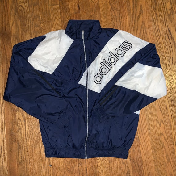 Men's Vintage Adidas 90s Lined Windbreaker - image 1