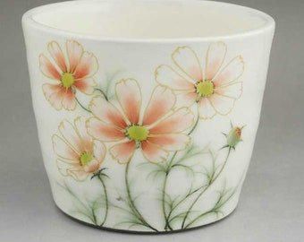 Autumn cherry blossom buckwheat free cup noodle choko  made in Japan Kyoto ceramic
