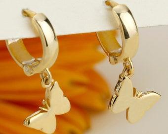 Dainty Hoops 24K Gold Earrings Gold Hoop Earrings Gift Crystal Dangle Earrings Formal Earrings Rainbow Earrings Zircon Crystals