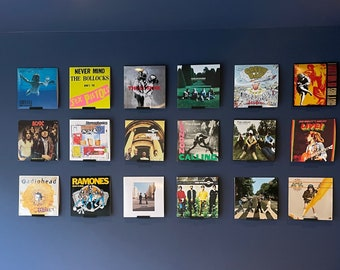 Record Display Shelf - Wall Mounted Vinyl Shelf - Lp Holder Stand UK