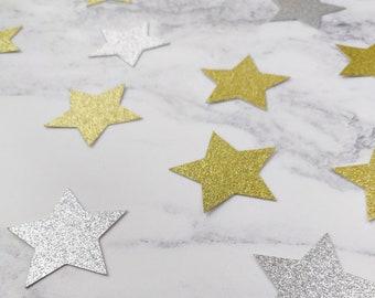 Neutral Decor Confetti Natured inspired Confetti Star Glitter Mix Table Confetti Table Scatters